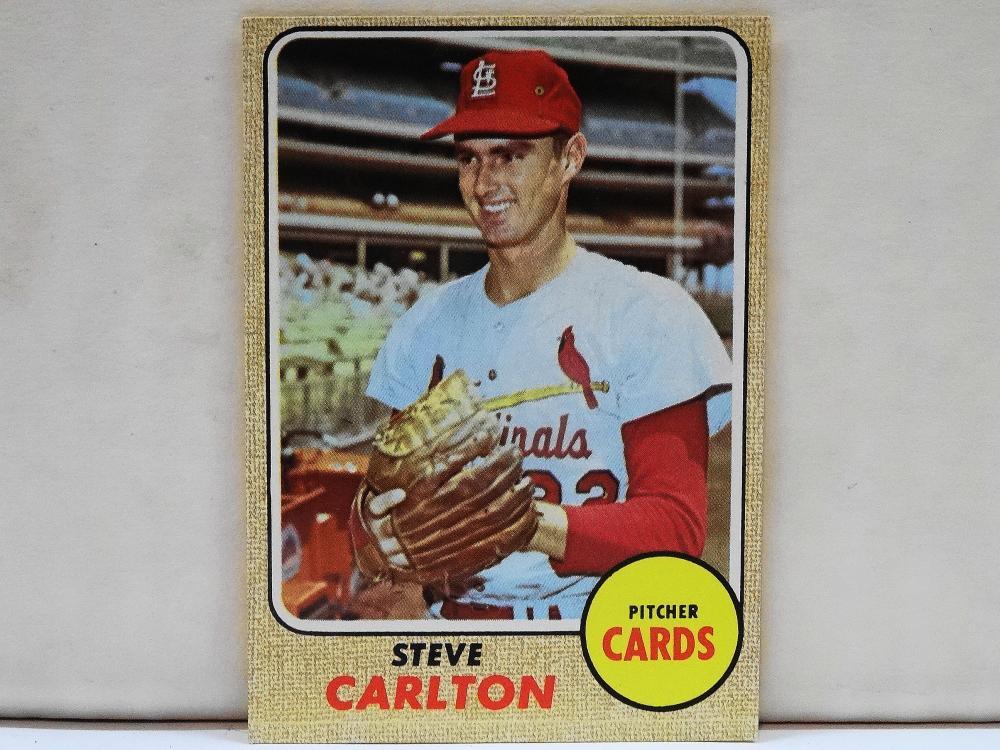 1968 TOPPS NO. 408 STEVE CARLTON BASEBALL CARD