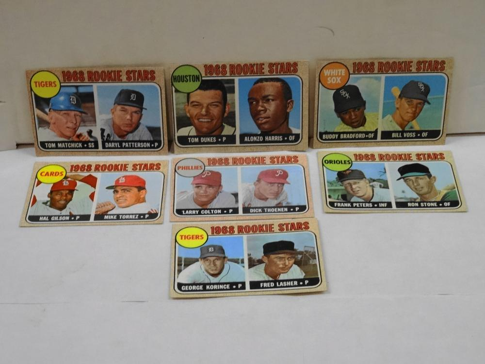 7 1968 TOPPS ROOKIE STAR BASEBALL CARDS