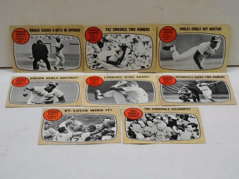 8 1968 TOPPS WORLD SERIES RECORDS BASEBALL CARDS