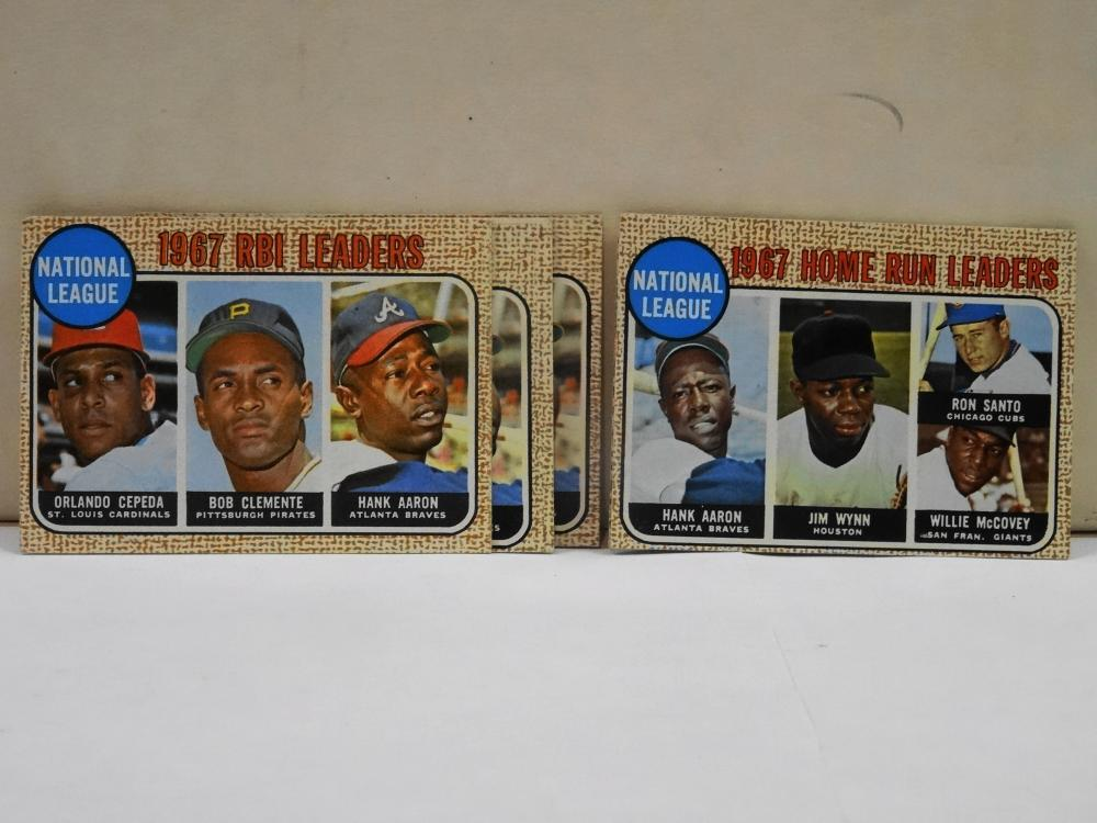 5 1968 TOPPS 1967 HOME RBI LEADERS BASEBALL CARDS