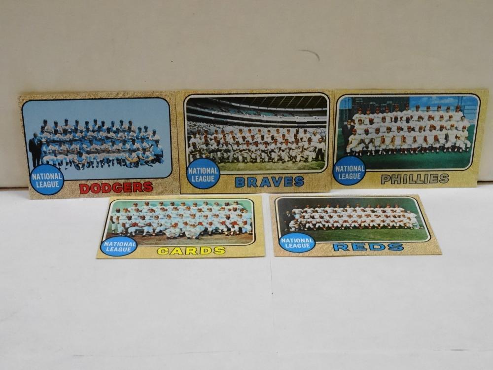 5 1968 TOPPS TEAM CARDS