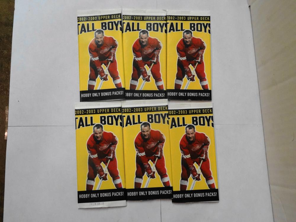 6 2002-2003 UPPER DECK TALL BOYS HOCKEY CARDS