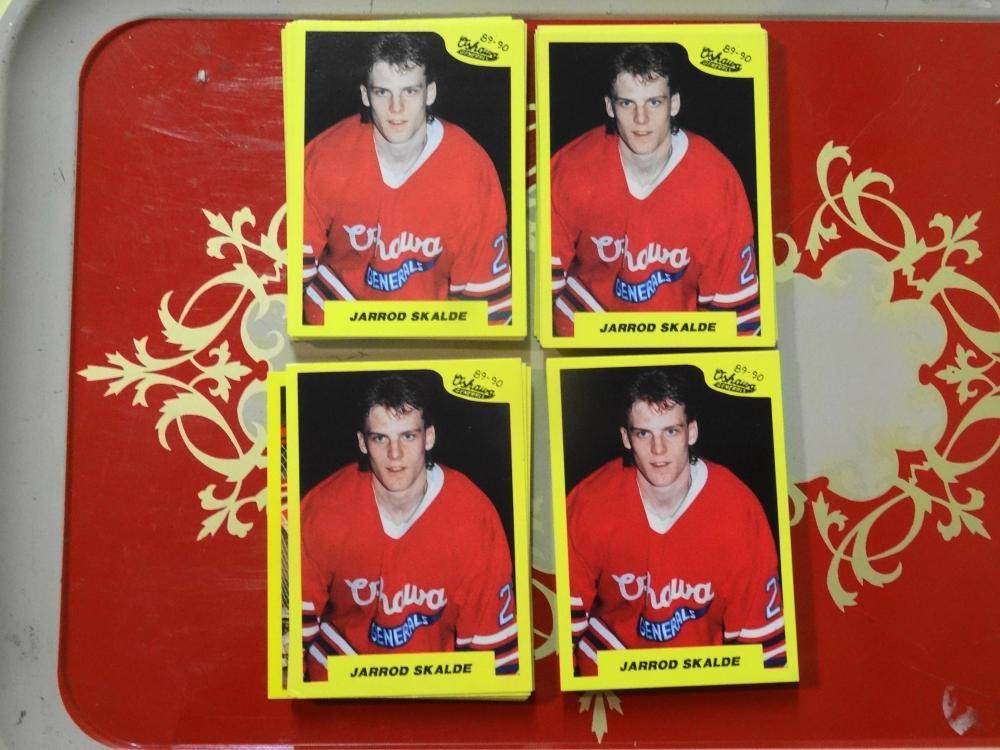 4 SETS OF 89-90 7TH INNING SKETCH OSHAWA GENERALS HOCKEY CARDS