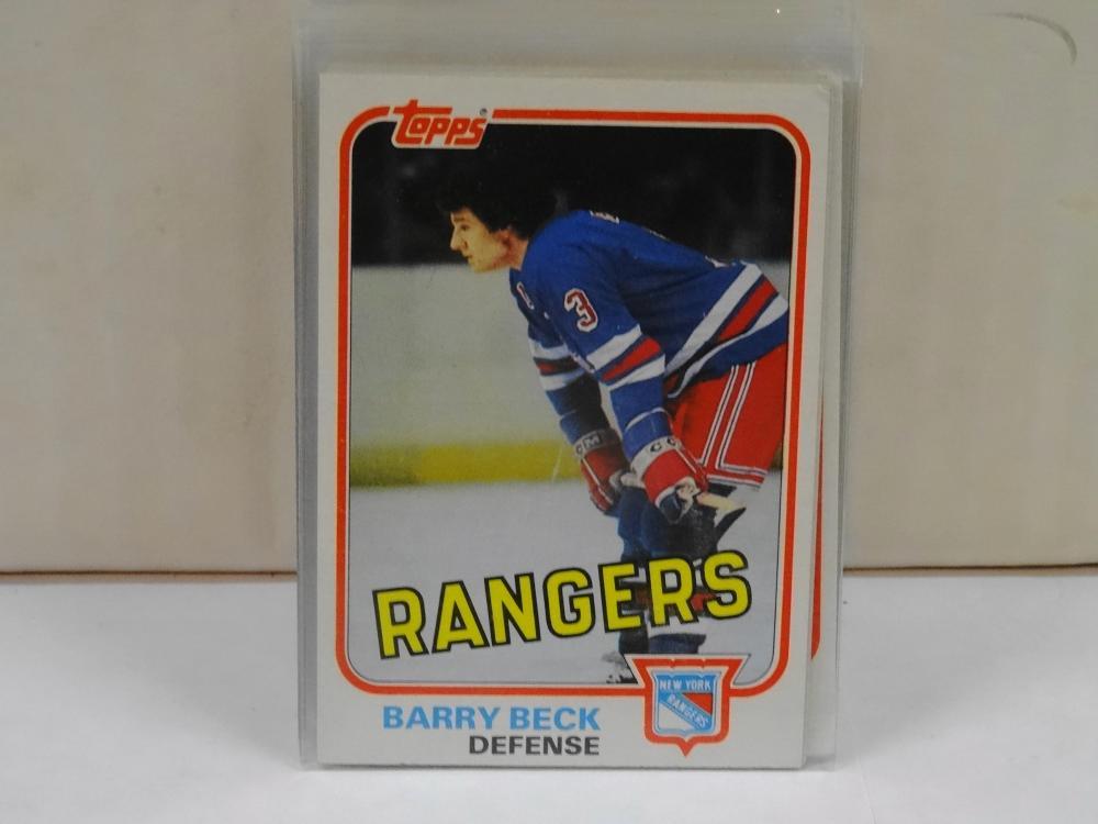 43 1981 TOPPS HOCKEY CARDS