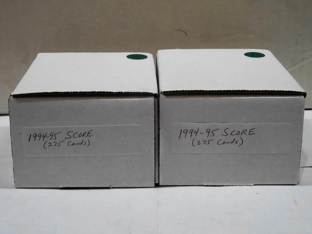 2 SETS OF 1994-95 SCORE HOCKEY CARDS