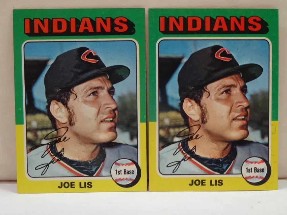 2 1975 TOPPS NO. 86 JOE LIS BASEBALL CARD
