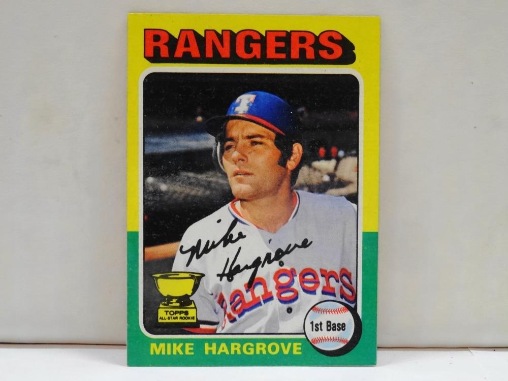 1975 TOPPS NO. 106 MIKE HARGROVE BASEBALL CARD