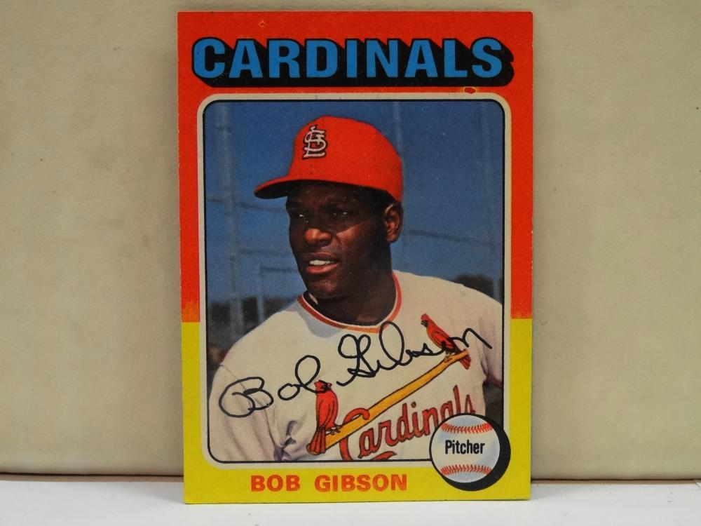 1975 TOPPS NO. 150 BOB GIBSON BASEBALL CARD