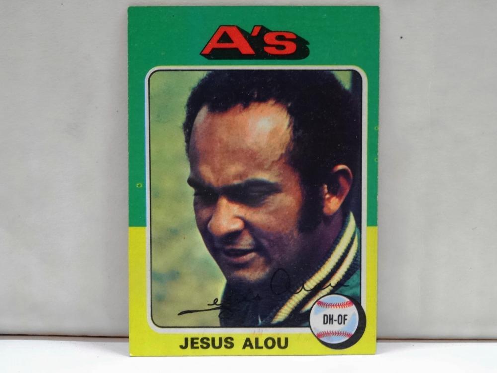 1975 TOPPS NO. 253 JESUS ALOU BASEBALL CARD