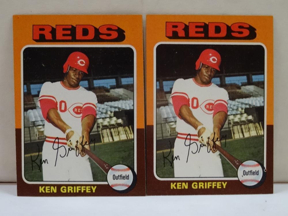 2 1975 TOPPS NO. 284 KEN GRIFFEY, SR. BASEBALL CARDS