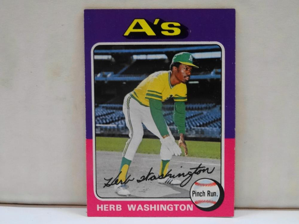 1975 TOPPS NO. HERB WASHINGTON BASEBALL CARD