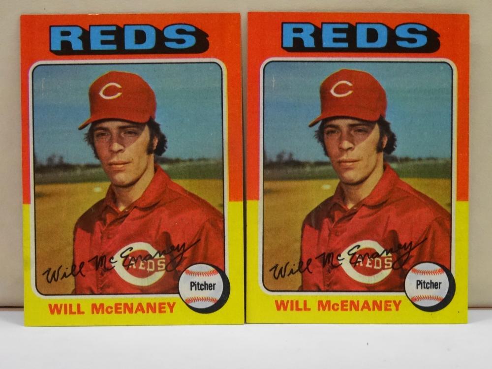 2 1975 TOPPS NO. 481 WILL MCENANEY BASEBALL CARD