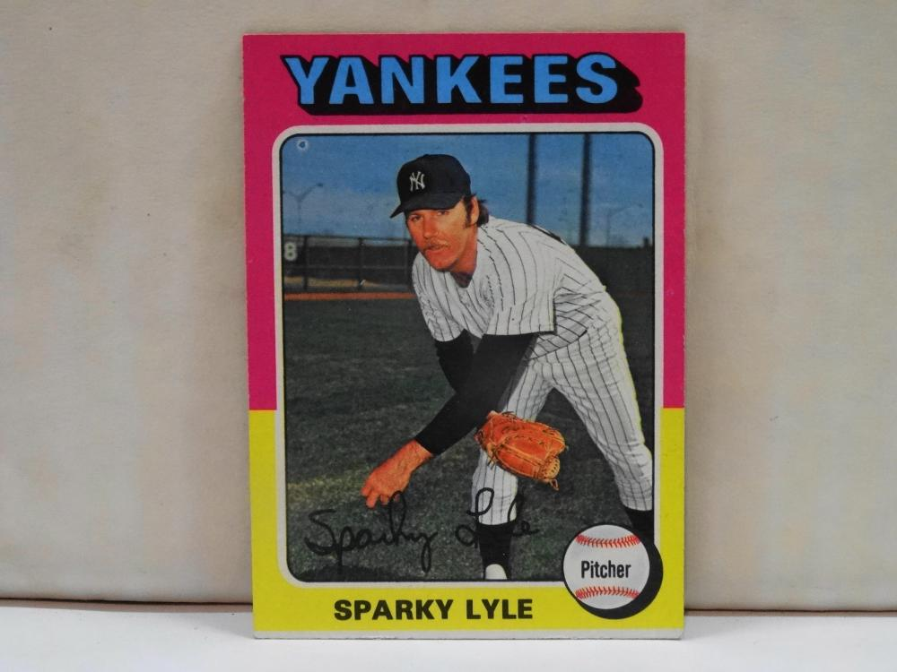 1975 TOPPS NO. 485 SPARKY LYLE BASEBALL CARD