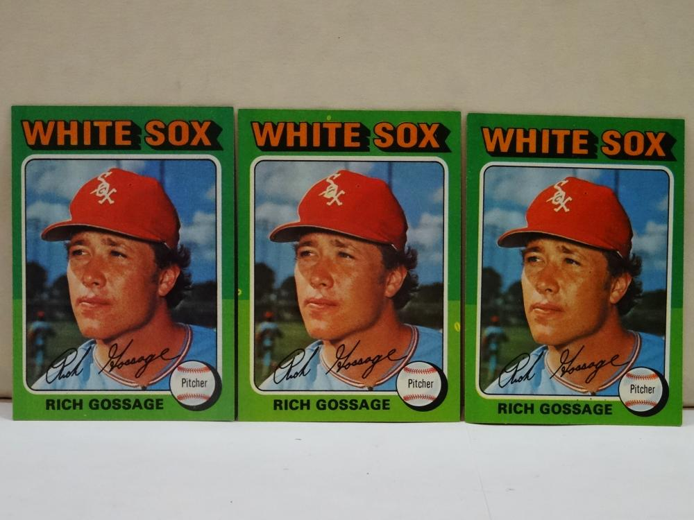 3 1975 TOPPS NO. 554 RICH GOSSAGE BASEBALL CARDS
