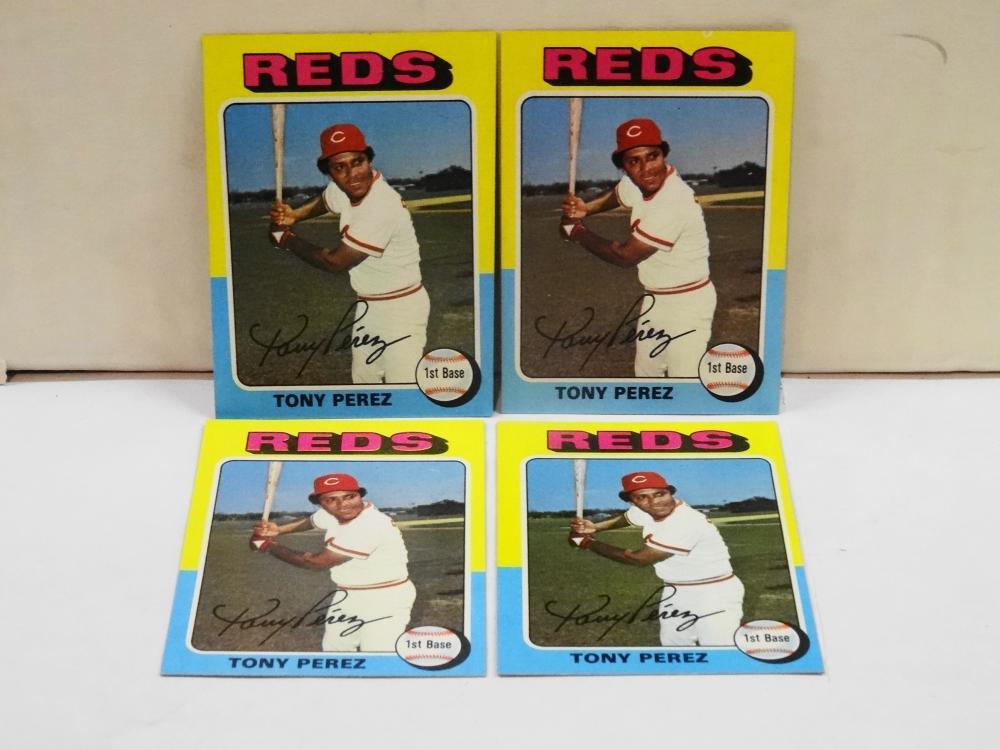 4 1975 TOPPS NO. 560 TONY PEREZ BASEBALL CARDS
