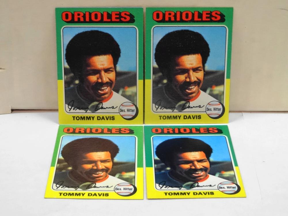 4 1975 TOPPS NO. 564 TOMMY DAVIS BASEBALL CARDS