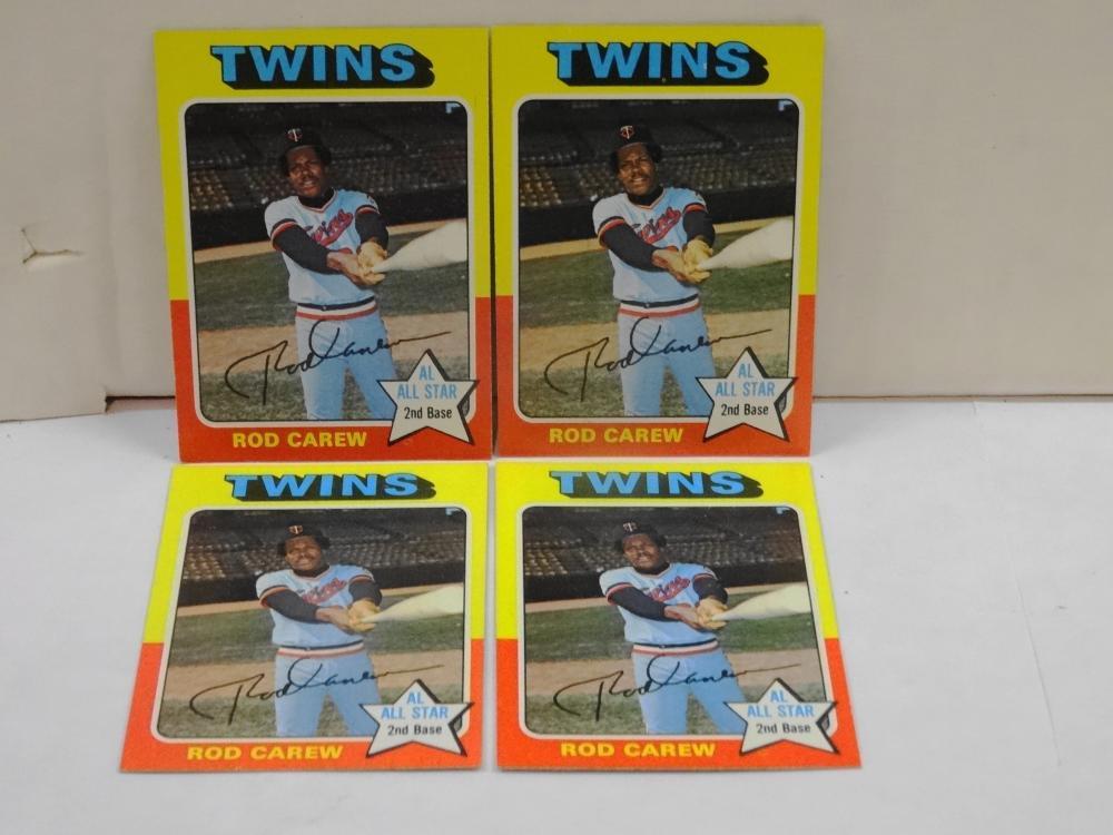 4 1975 TOPPS NO. 600 ROD CAREW BASEBALL CARDS