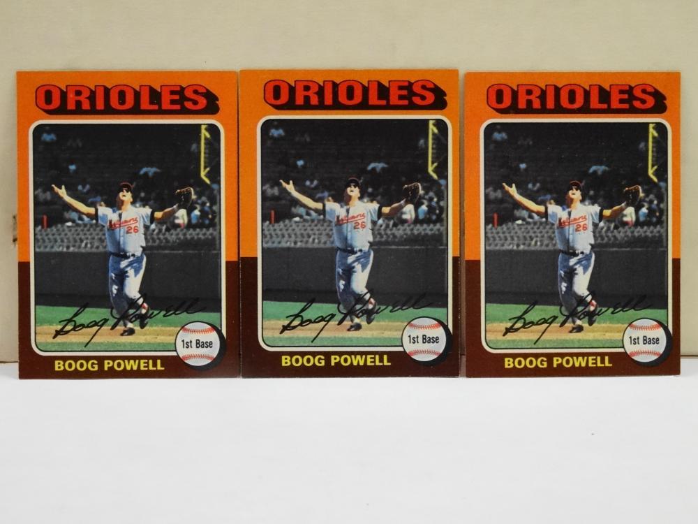 3 1975 TOPPS NO. 625 BOOG POWELL BASEBALL CARDS