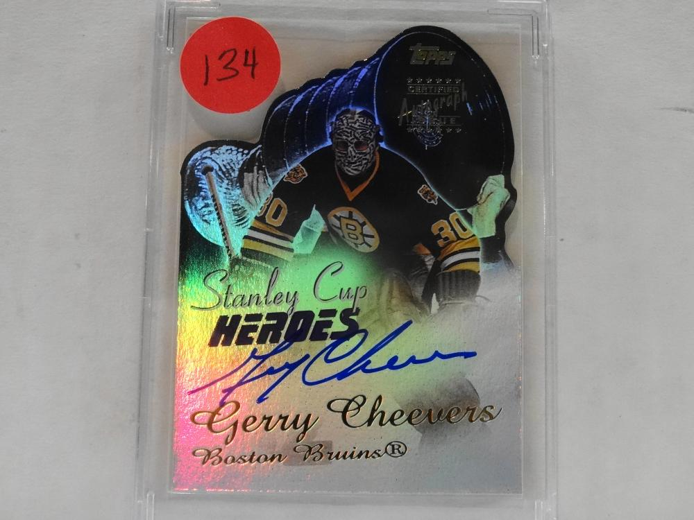 2001 TOPPS STANLEY CUP HEROES LIVE INK AUTOGRAPH GERRY CHEEVERS HOCKEY CARD