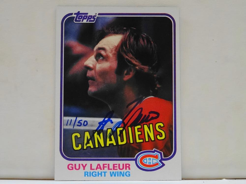 1981 TOPPS LINK INK AUTOGRAPH GUY LAFLEUR HOCKEY CARD