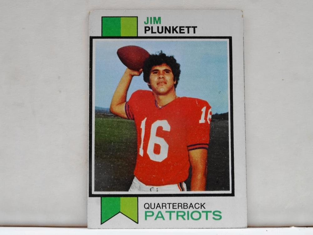 1973 TOPPS NO. 355 JIM PLUNKETT FOOTBALL CARD