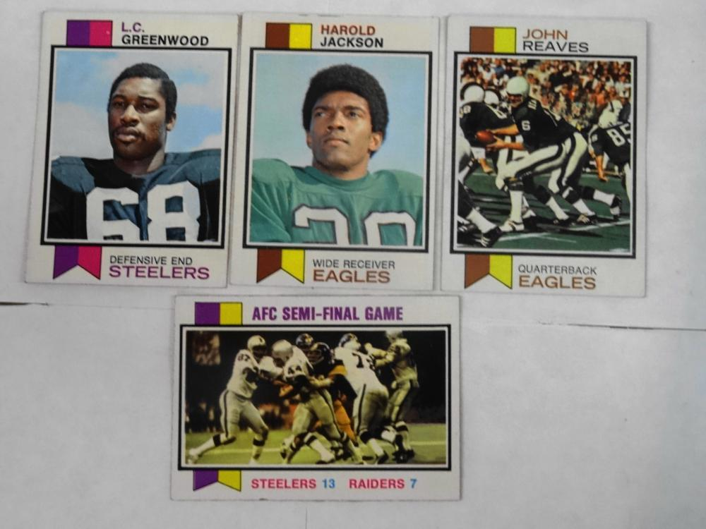 4 1973 TOPPS FOOTBALL CARDS