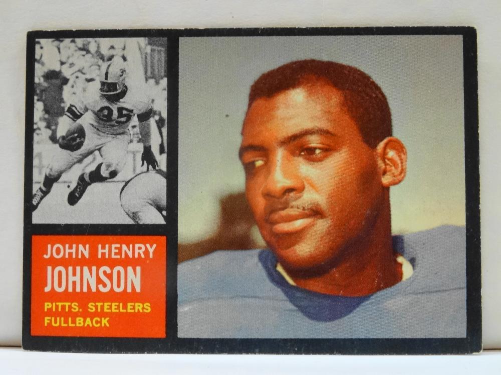 1962 TOPPS NO. 129 JOHN H. JOHNSON FOOTBALL CARD