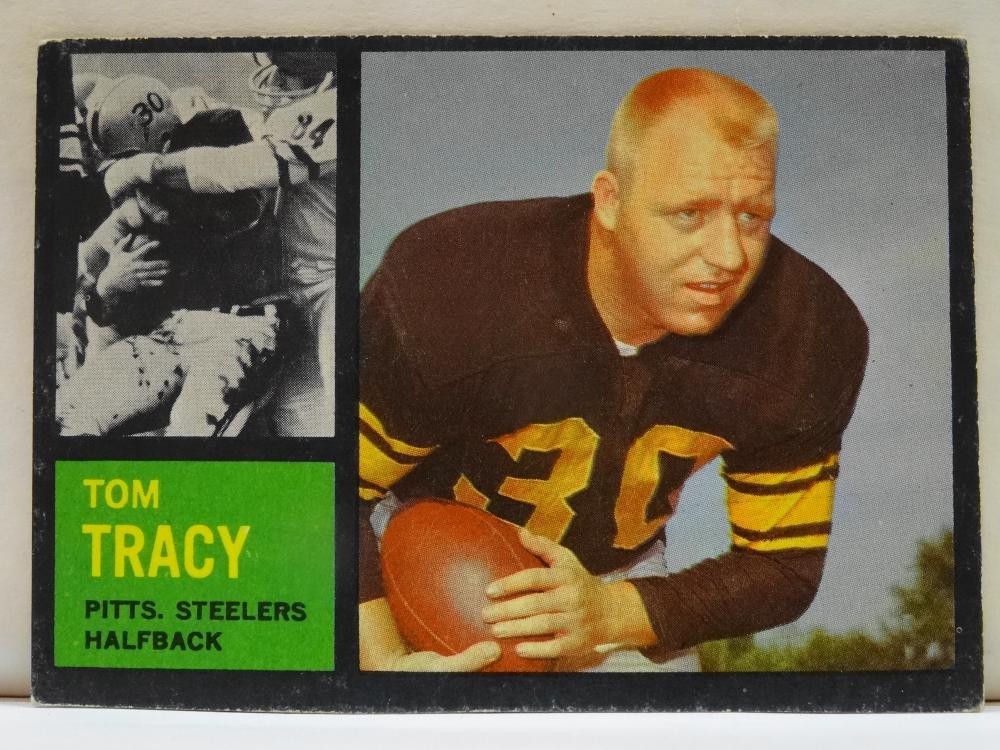 1962 TOPPS NO. 128 TOM TRACY FOOTBALL CARD