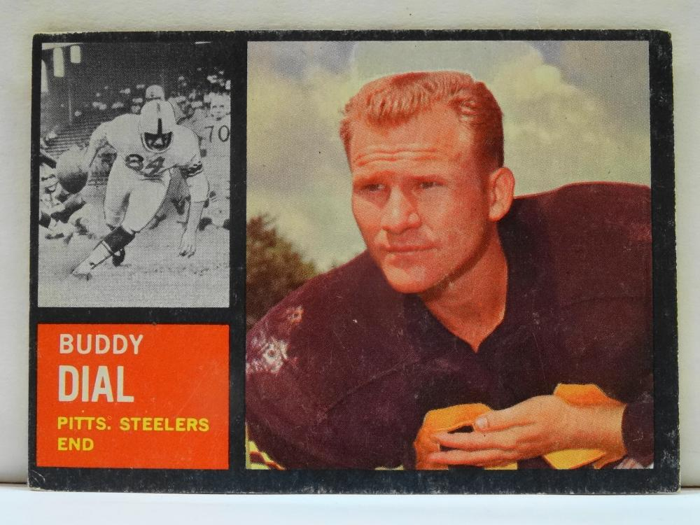 1962 TOPPS NO. 130 BUDDY DIAL FOOTBALL CARD