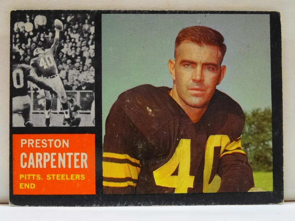 1962 TOPPS NO. 131 PRESTON CARPENTER FOOTBALL CARD