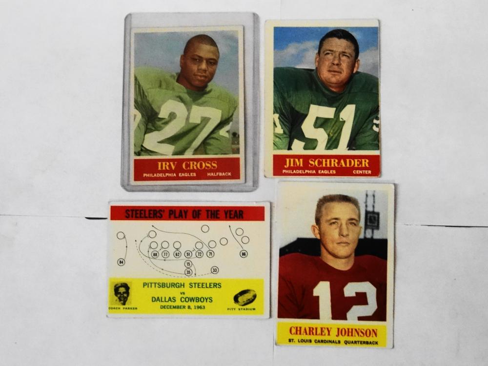 4 1964 PHILIDELPHIA FOOTBALL CARDS