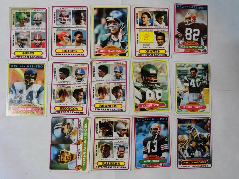 14 1980 TOPPS FOOTBALL CARDS