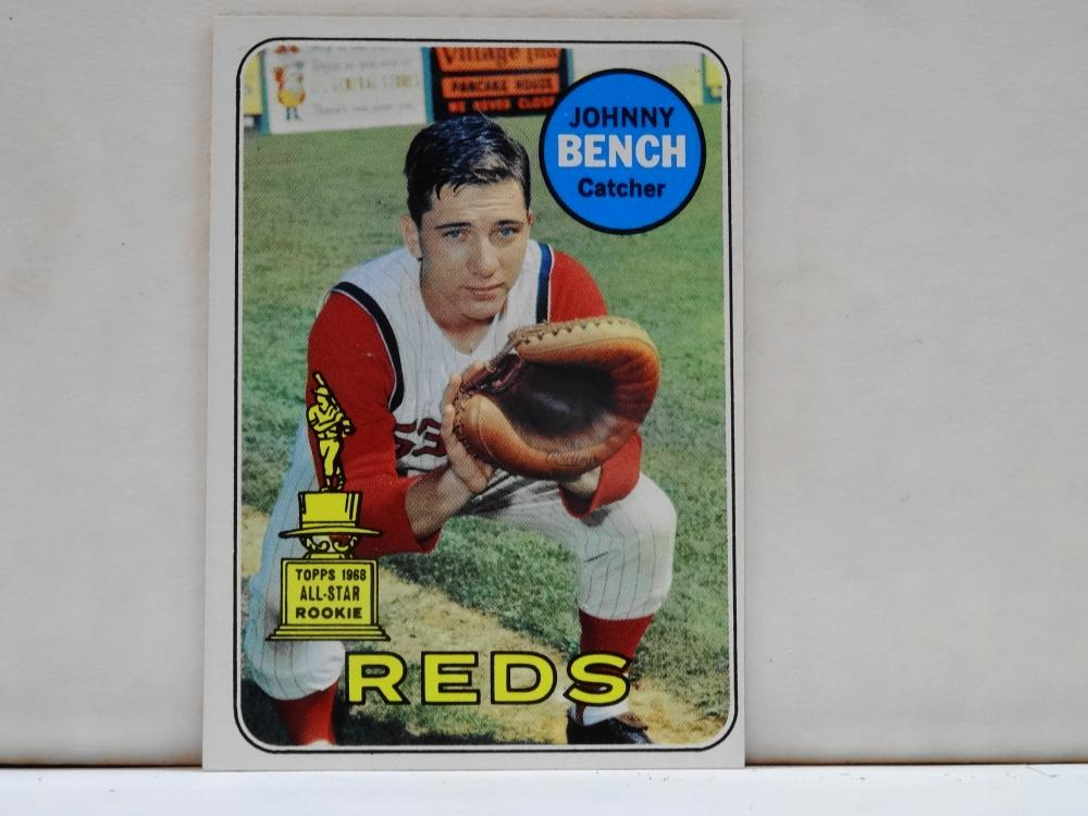 1969 TOPPS NO. 95 JOHNNY BENCH BASEBALL CARD