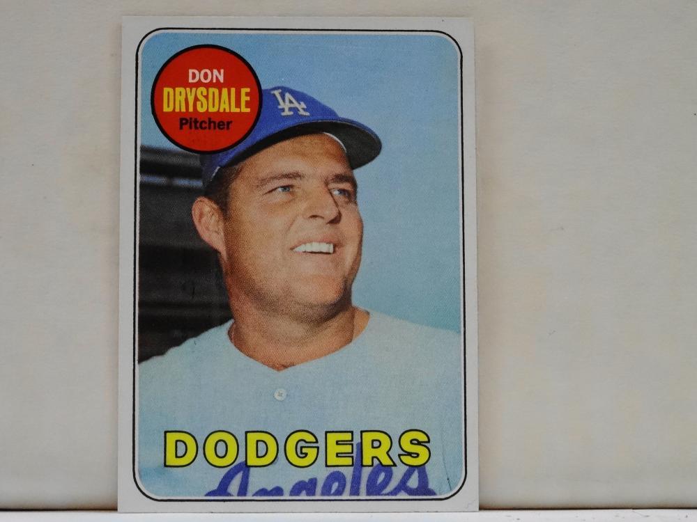 1969 TOPPS NO. 400 DON DRYSDALE BASEBALL CARD