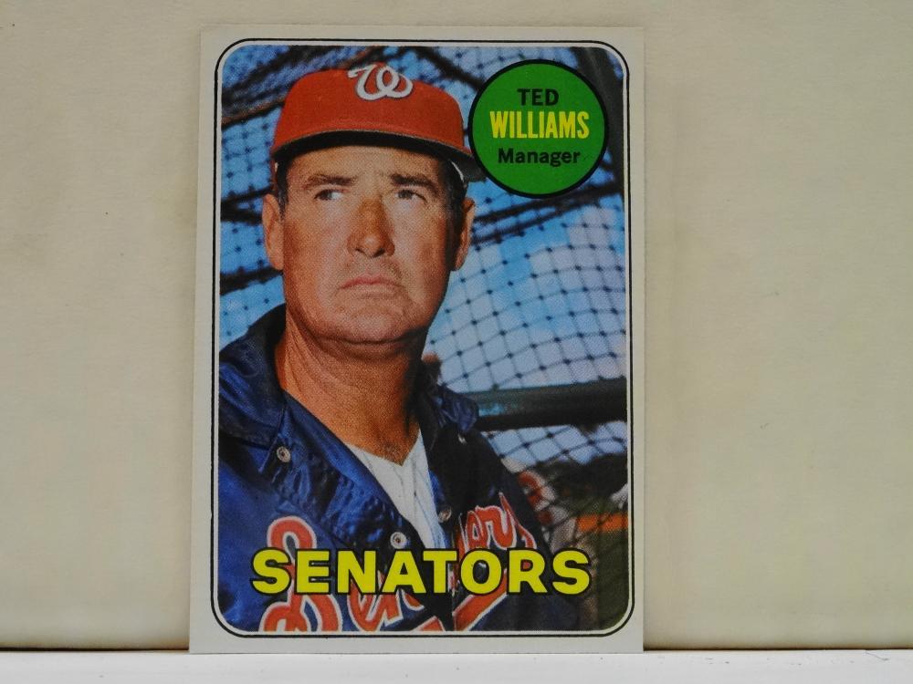 1969 TOPPS NO. 650 TED WILLIAMS BASEBALL CARD