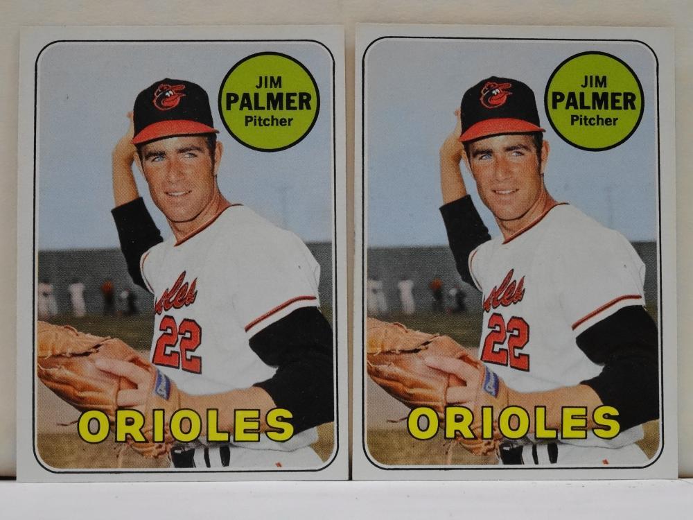 2 1969 TOPPS NO. 573 JIM PALMER BASEBALL CARD