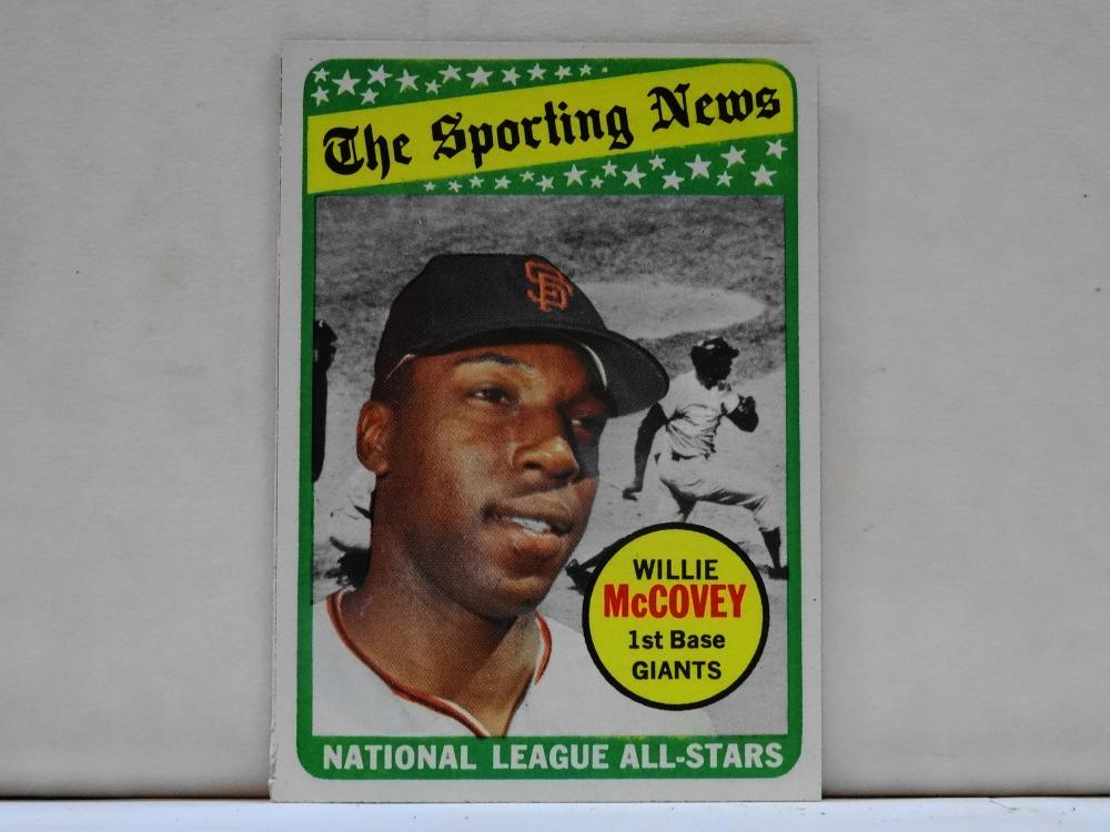 1969 TOPPS NO. 416 WILLIE MCCOVEY THE SPORTING NEWS BASEBALL CARD