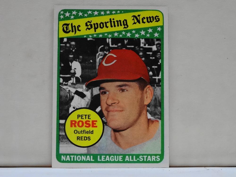 1969 TOPPS NO. 424 PETE ROSE THE SPORTING NEWS BASEBALL CARD