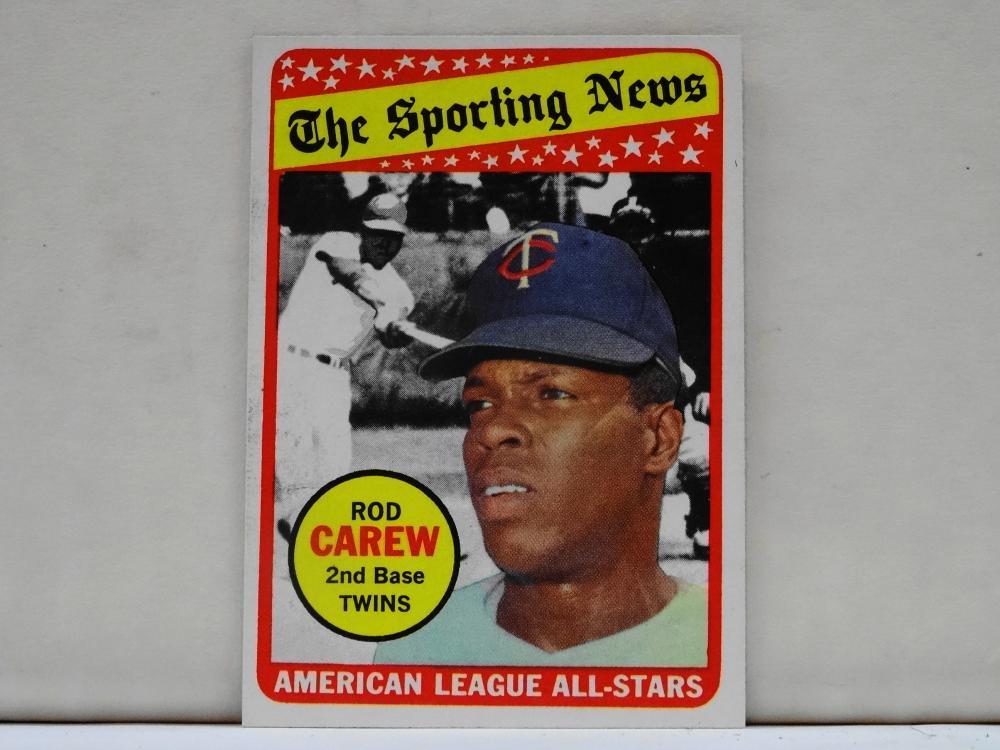 1969 TOPPS NO. 419 ROD CAREW THE SPORTING NEWS BASEBALL CARD
