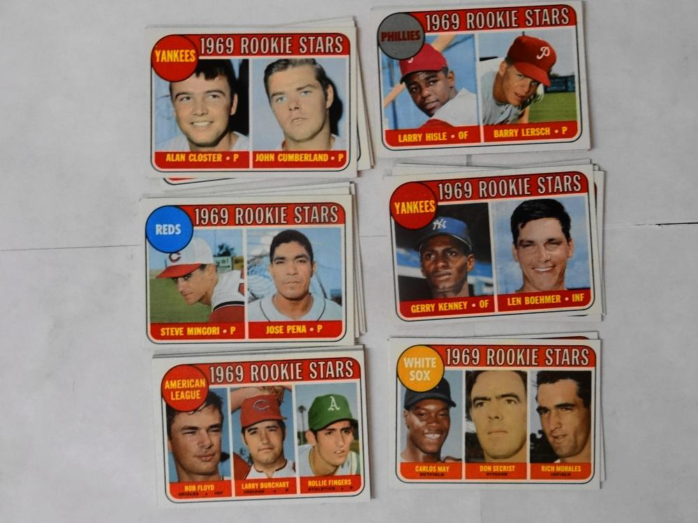 31 1969 TOPPS ROOKIE STARS BASEBALL CARDS