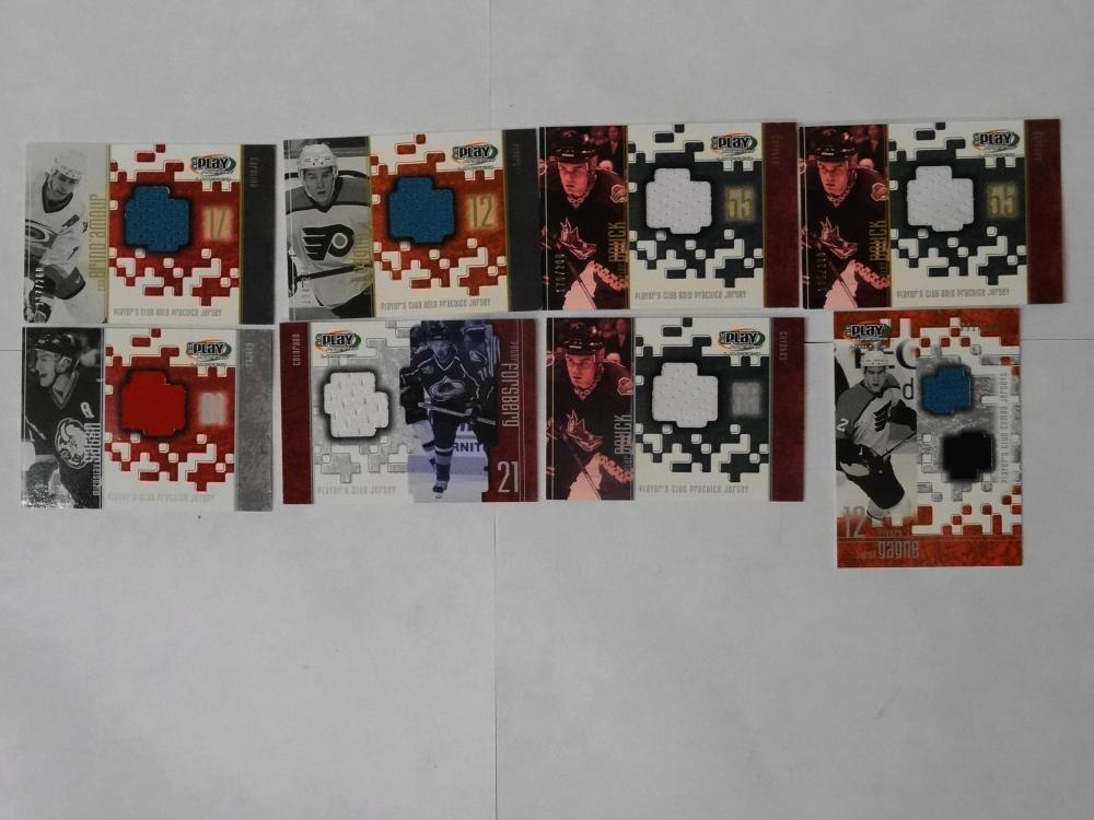 8 2002 UPPER DECK JERSEY WORN HOCKEY CARDS