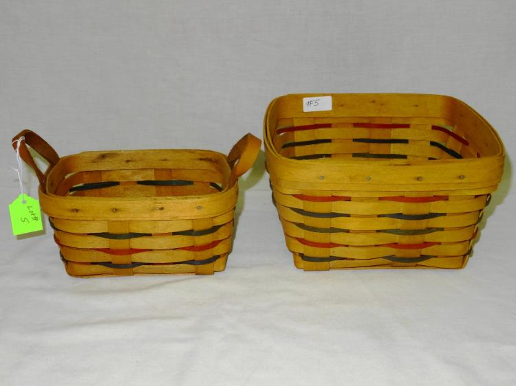 2 VINTAGE LONGABERGER BASKETS