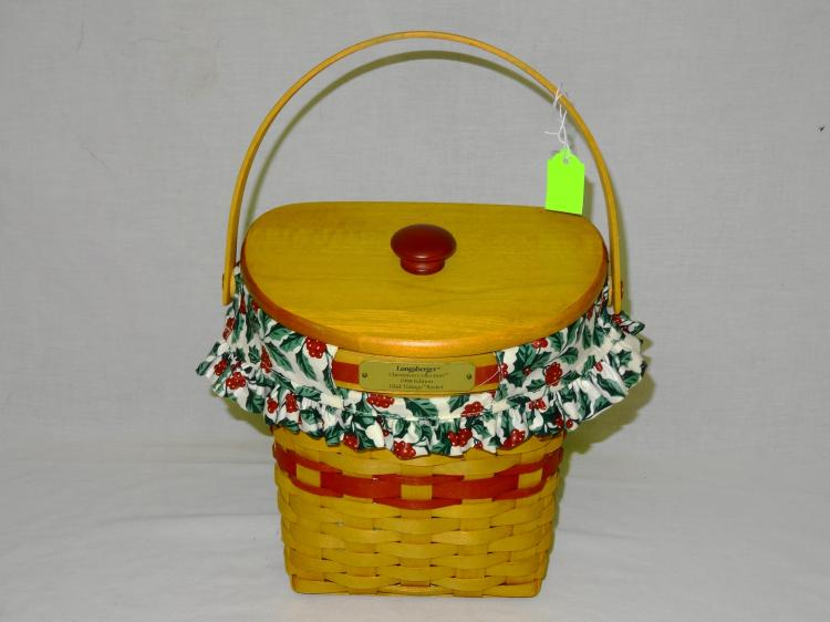 VINTAGE LONGABERGER GLAD TIDINGS BASKET