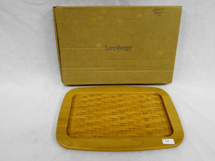 LONGABERGER WOOD MARKET BASKET LID