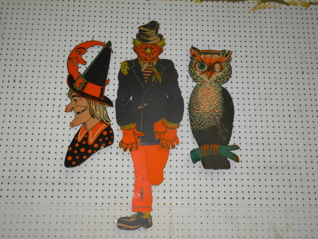 3 vintage halloween decorations Vintage halloween decorations uk