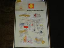 VINTAGE 1972 SHELL OIL CO. POSTER
