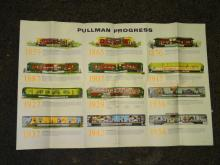 VINTAGE 1957 MODERN TRAVEL BY PULLMAN POSTER