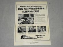 VINTAGE 1949 PRR POSTER