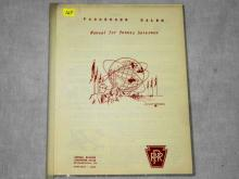 VINTAGE 1964 PRR PASSENGER SALES MANUAL FOR PENNSY SALESMAN