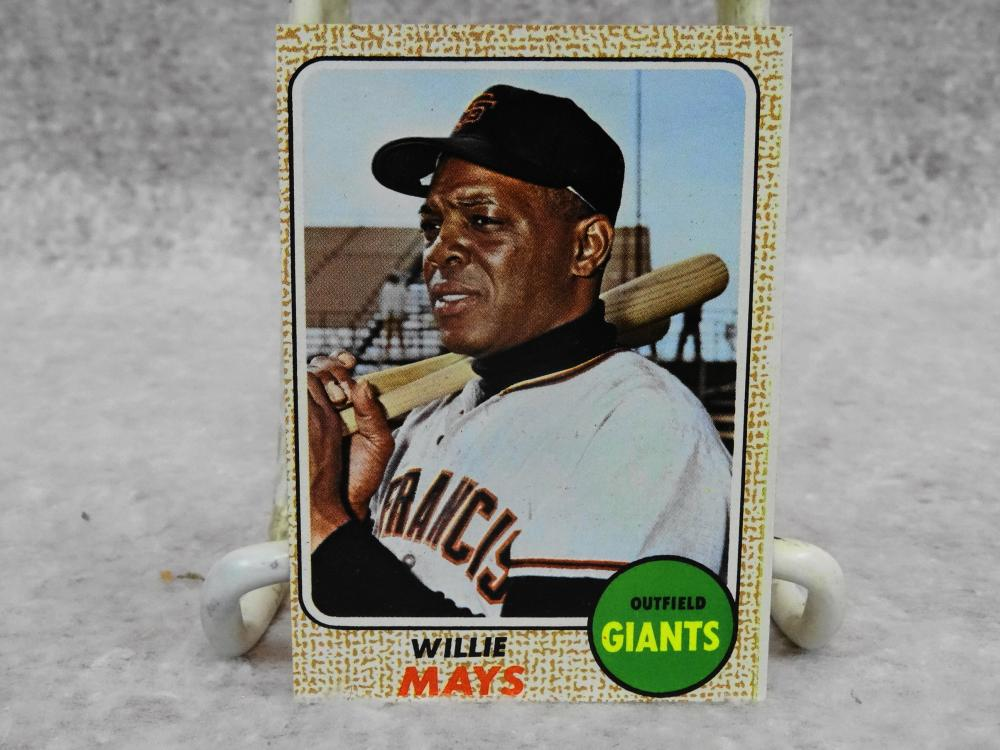 Vintage Topps No 50 Willie Mays Hof Baseball Card